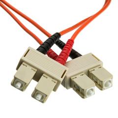 Fiber Optic Cable, SC / SC, Multimode, Duplex, 62.5/125, 25 meter (82 Foot)