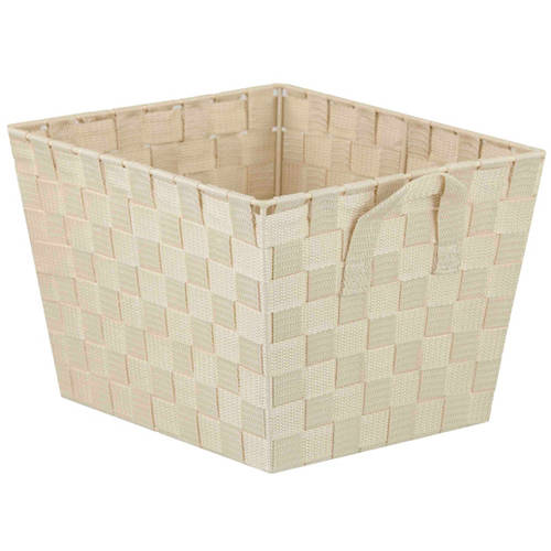 HDS Trading Non-Woven Strap Bin, Ivory, Large