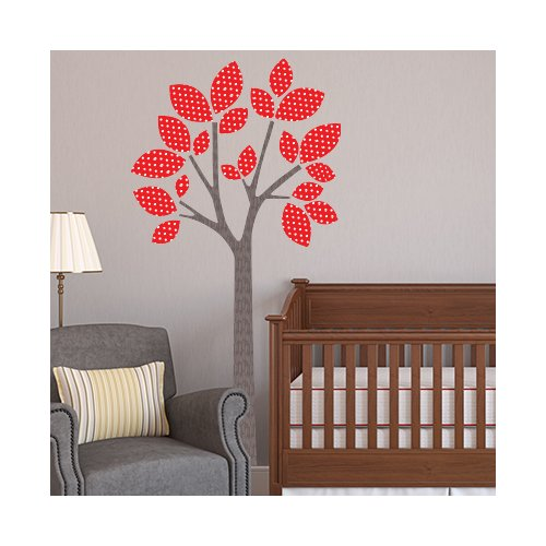 Sunny Decals Modern Tree Fabric Wall Decal