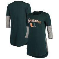 Miami Hurricanes Women's Striking in Stripes Tunic Shirt - Green