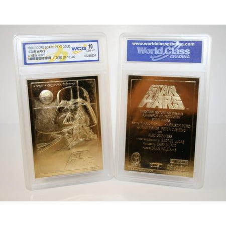 New Mib Mint (Star Wars A NEW HOPE Original Movie Poster 23KT Gold Card Graded GEM MINT)