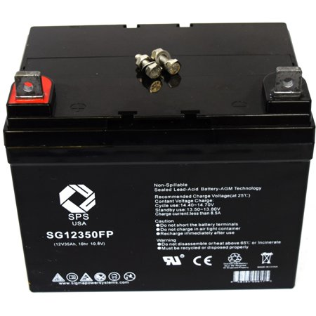 SPS Brand 12V 35AH  battery for Lawn Mower John Deere TY23017 TY21753 TY25878 TY25221 TY25878A TY25221A Lawn and Garden