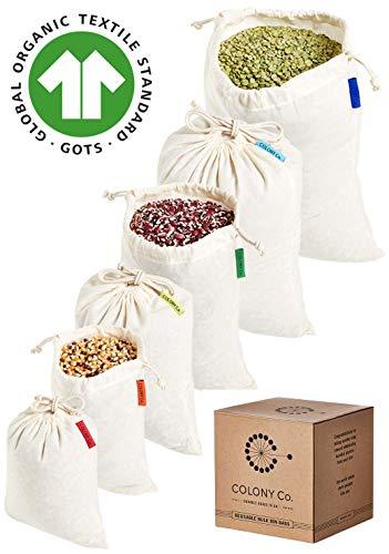 Set of 3 bags in bulk  zero waste.