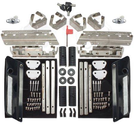 Set Black Saddlebag Lock Latch & Hardware Rejuvenation Kit Harley Touring