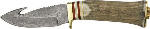 Szco Supplies Damascus Guthook Hunting Knife Multi-Colored by Damascus