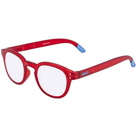 B+D Blue Ban Reader Matt Red +1.50 Eyeglasses (Ray Ban Display)