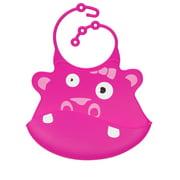Ulubulu Silicone Baby Bib, Hippo, 1.0 CT