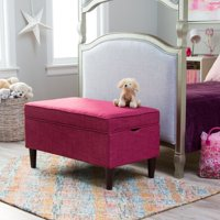 Classic Playtime Hannah Upholstered Storage Bench - Berry