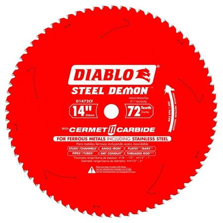 """Diablo D1472CF Steel Demon 72T Cermet II Carbide Ferrous Metal Saw Blade (14"""") (Stock Non Ferrous Metals Blades)"""