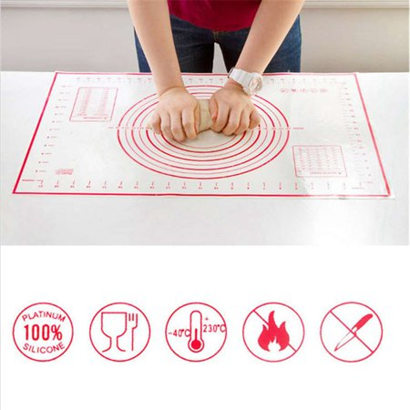 Non-Stick Slicone Baking Mat Knead Dough Rolling Mat Dual Scales Measurement Baking Pad Kitchen Accessory