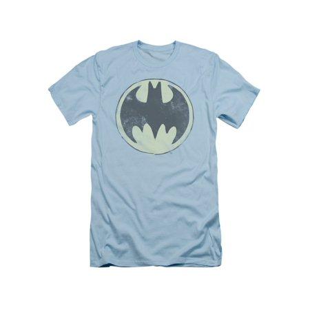 Batman DC Comics Old Time Logo Adult Slim T-Shirt Tee (Adult Batman Shirt)