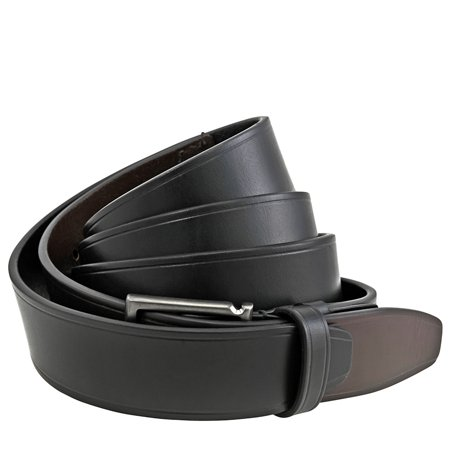 Ferragamo Gancini Buckle Leather Belt - Black