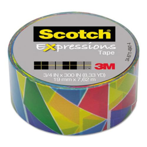 "3m C214P10 Expressions Magic Tape, 3/4"" X 300"", Stained Glass"