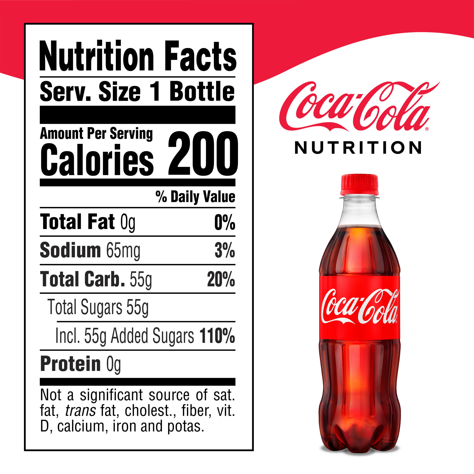 Coke Nutrition Facts 20 Oz Nutritionwalls