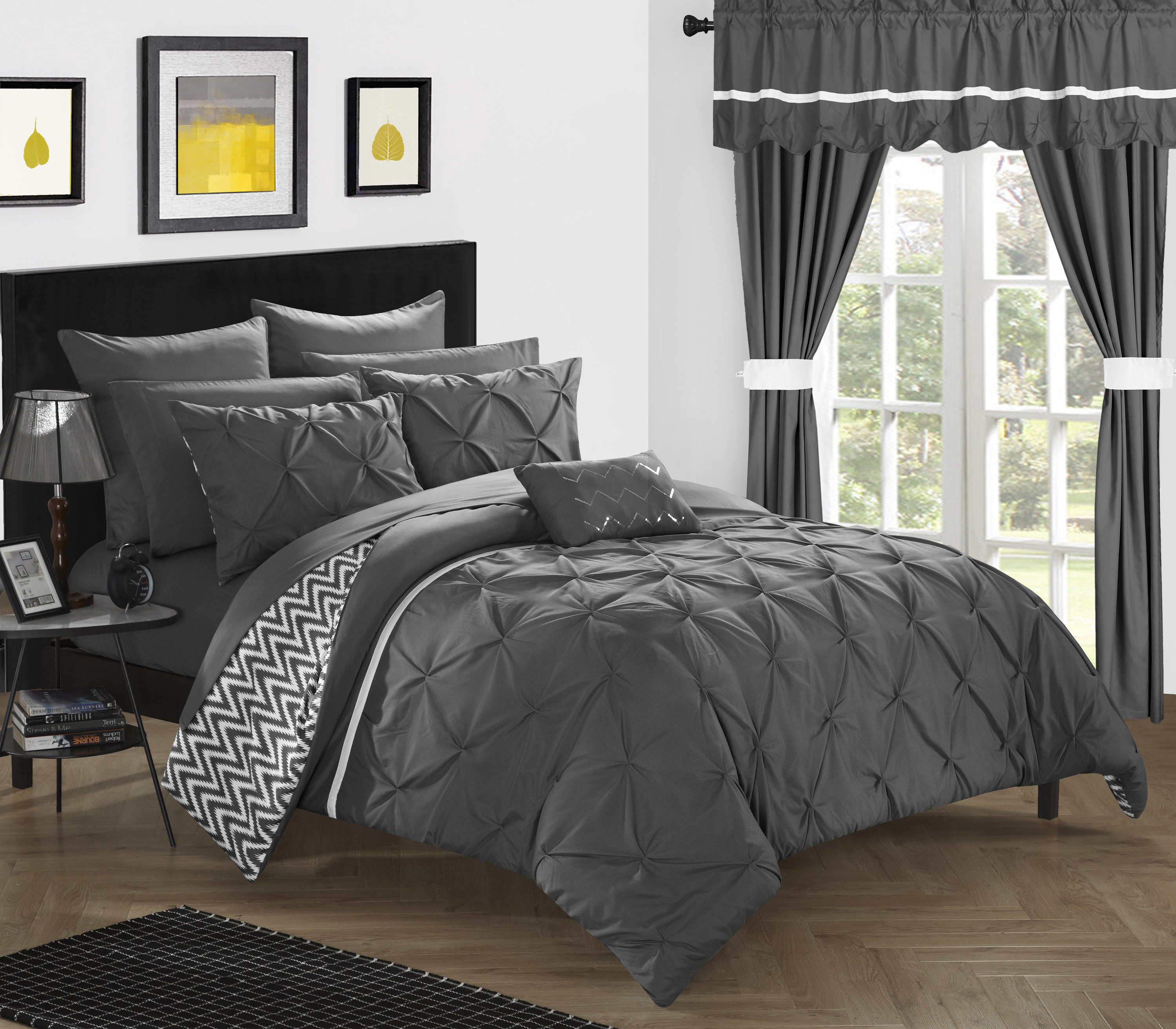 chic home 20piece potterville complete bed room in a bag super set pinch