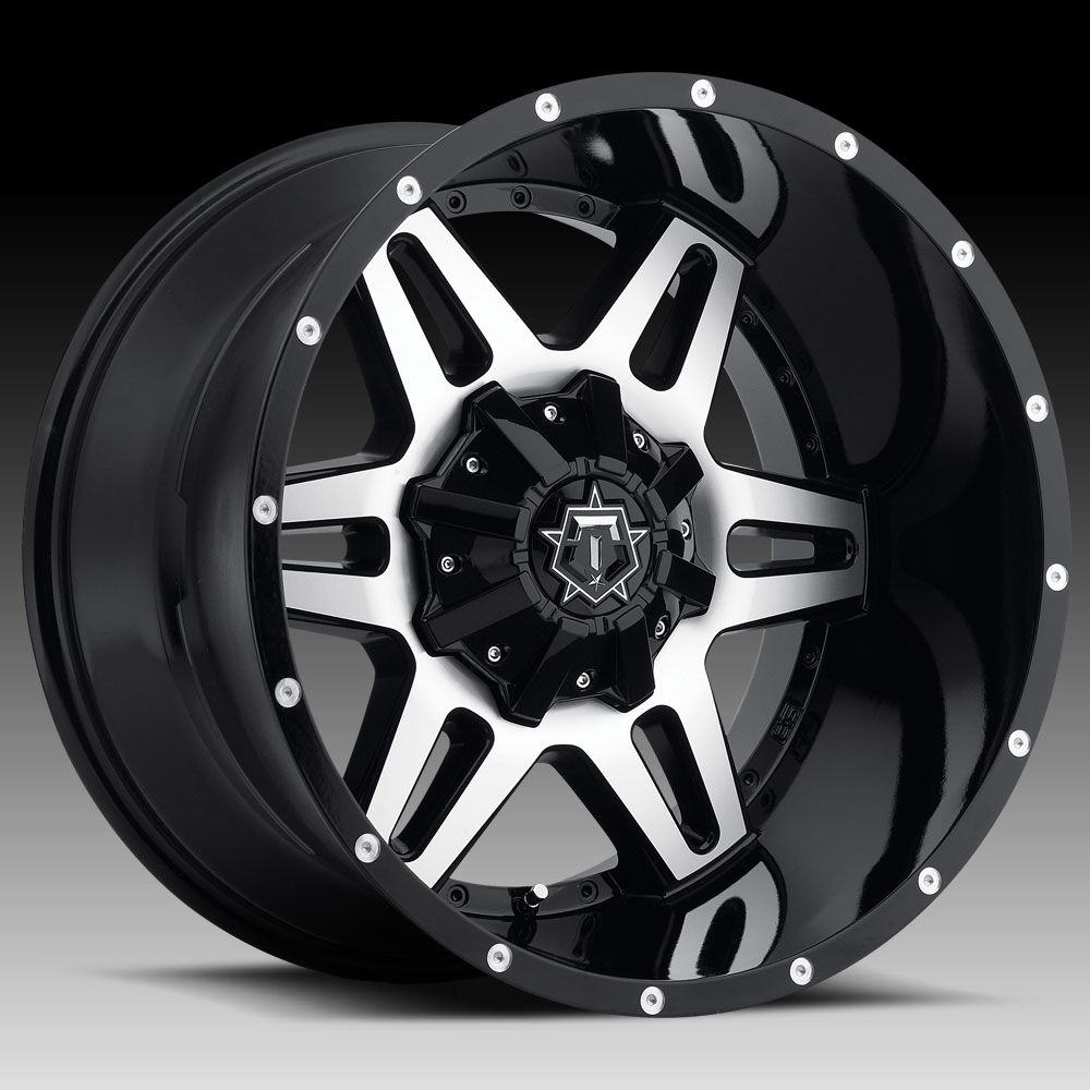TIS 538MB Machined Black 18x9 6x135 / 6x5.5 -12mm (538MB-8906812)