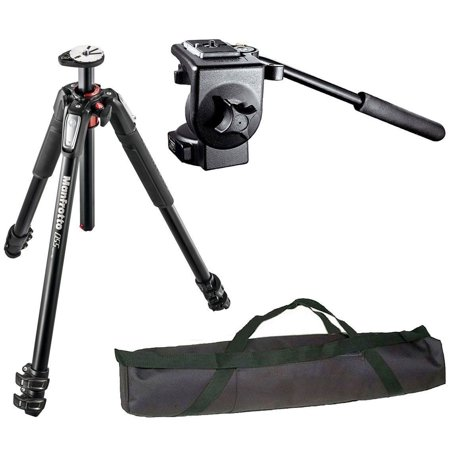 Manfrotto Pro Video Tripod Kit MT055XPRO3 + Aluminium 3-Sec Tripod + 128RC