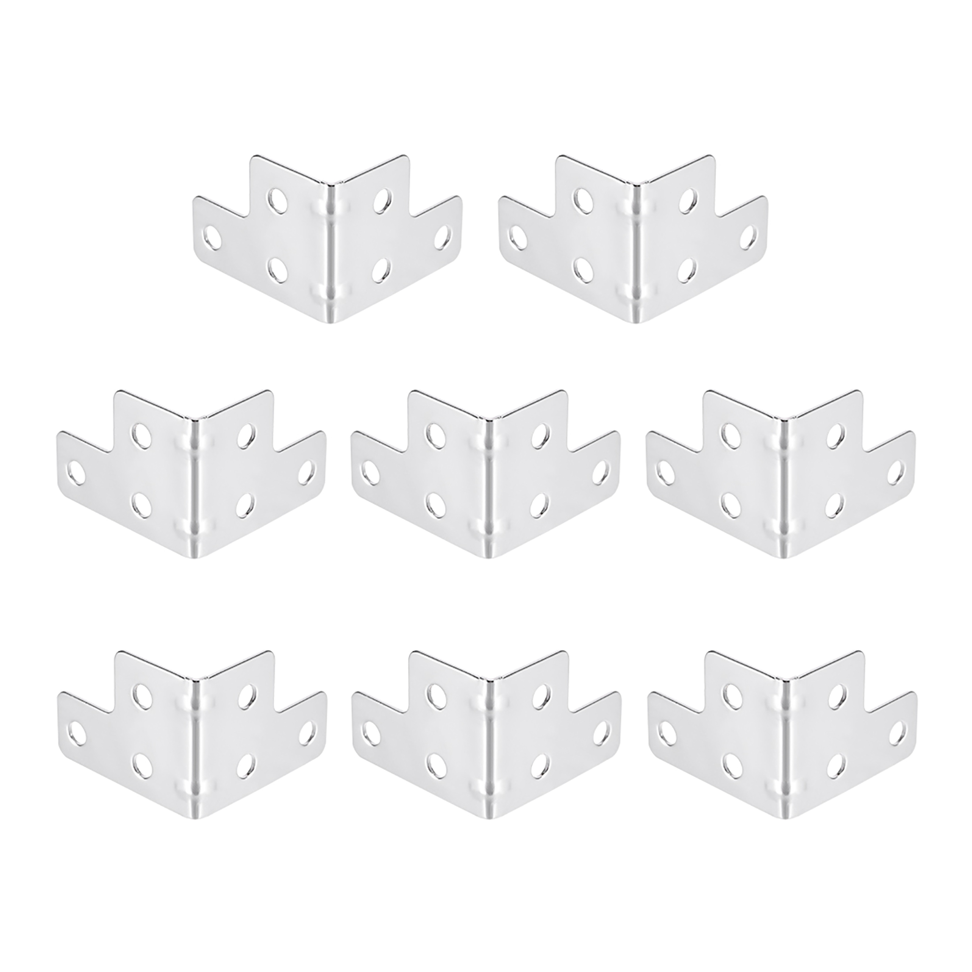 Trunks 32mm Plain Metal Corners For Storage Boxes Tuck Boxes Cases Set of 8