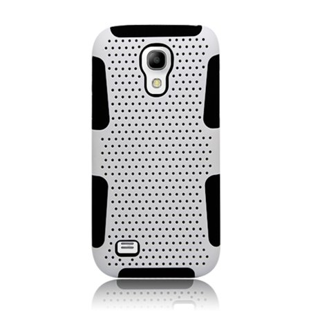 Insten Mesh Dual Layer [Shock Absorbing] Protection Hybrid Plastic/TPU Rubber Case Cover for Samsung Galaxy S4 Mini GT-I9190,