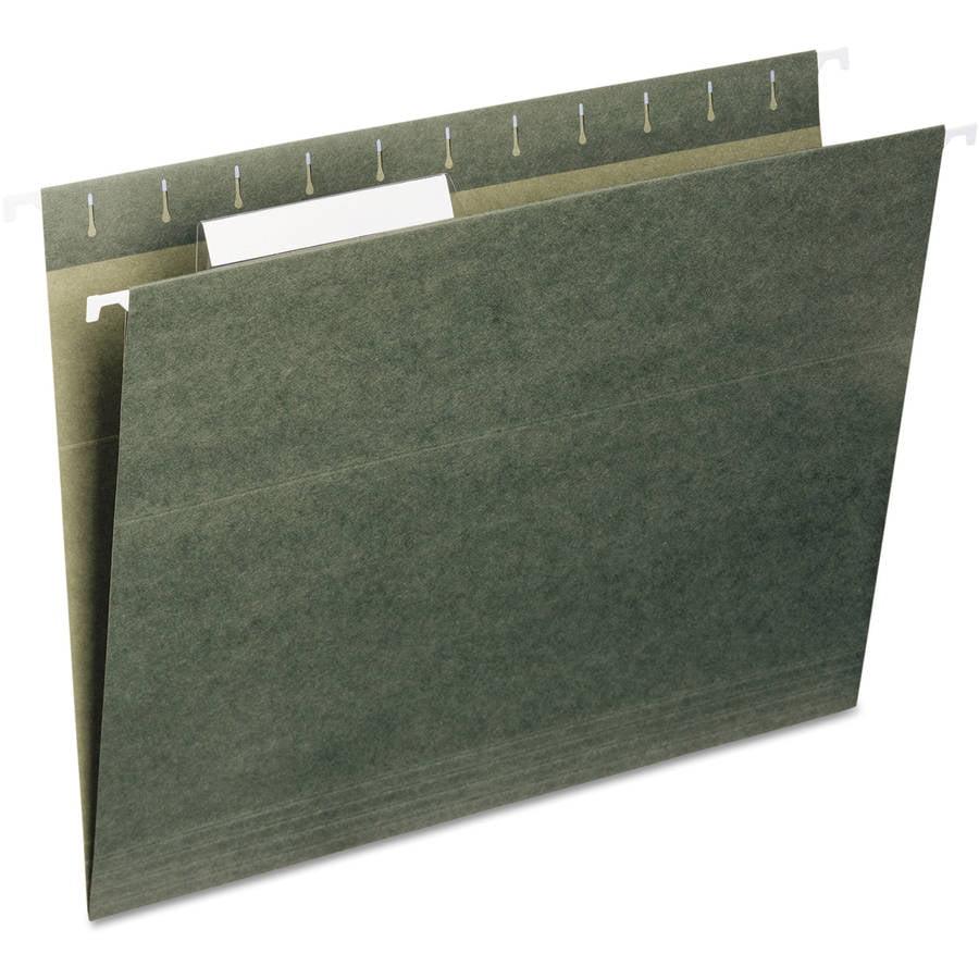 Universal Hanging File Folders, 1/5 Tab, 11 Point Stock, Legal, Standard Green, 25/Box -UNV14215
