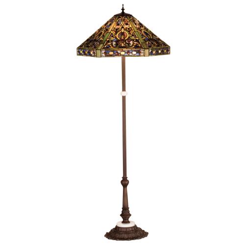 Meyda Tiffany 31116 Stained Glass   Tiffany Floor Lamp from the Tiffany Elizabethan Collection by Meyda Tiffany