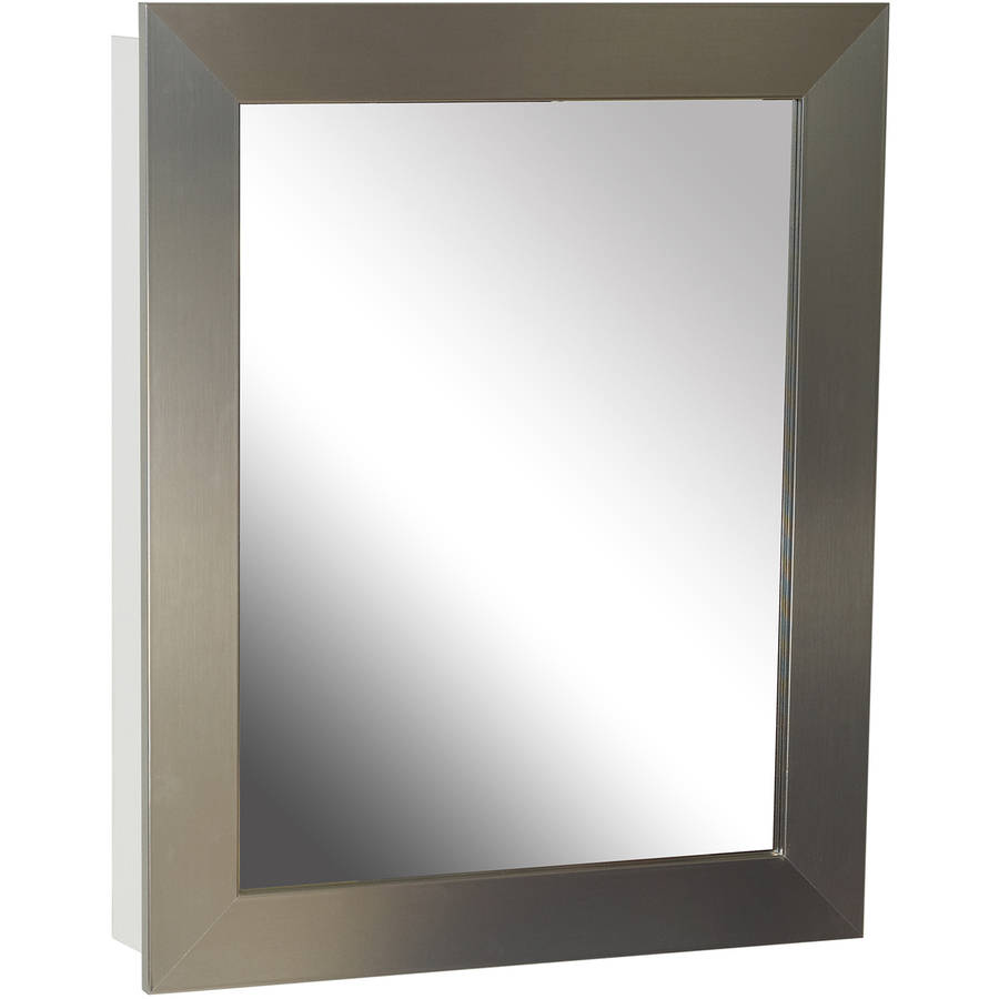 Kohler Single Door 20u0027u0027 X 26u0027u0027 Aluminum Medicine Cabinet With Decorative  Frame   Walmart.com