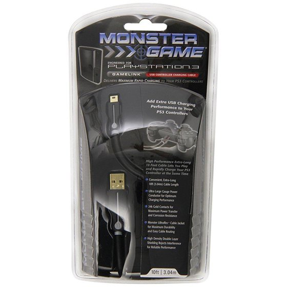 playstation 3 monster cable gamelink usb to mini-usb for playstation ...