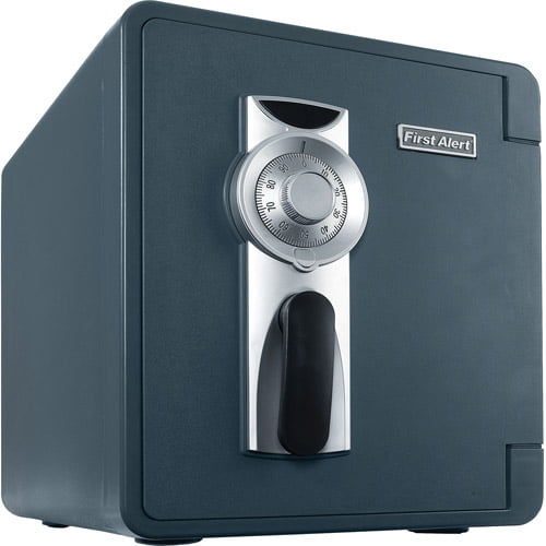 First Alert 2087F-BD Waterproof and Fire-Resistant Bolt-Down Combination Safe, 0.94 Cubic Feet by BRK Brands