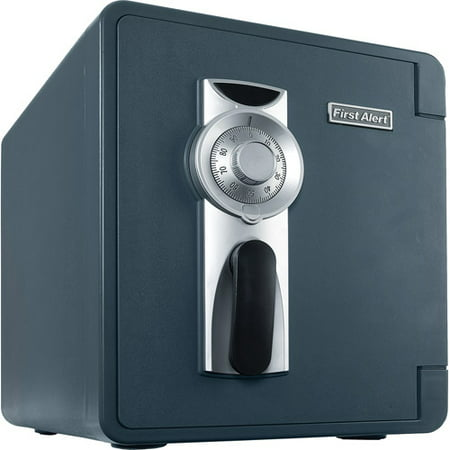 First Alert 2087F-BD Waterproof and Fire-Resistant Bolt-Down Combination Safe, 0.94 Cubic