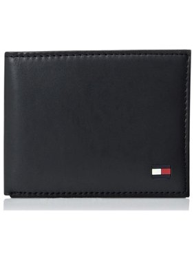 Tommy Hilfiger Men's Passcase Billfold Wallet with Removable Card Holder Navy
