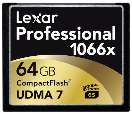 Lexar Professional 1066x 64GB CompactFlash card LCF64GCRBNA10662 2 Pack by Lexar