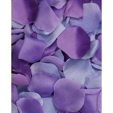 Satin Rose Petals: Purple, 100 pack