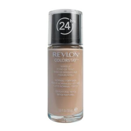 Revlon Colorstay Makeup For Normal & Dry Skin with SPF 15, 220 Natural Beige, 1 Fl (Best Drugstore Cream Foundation For Dry Skin)