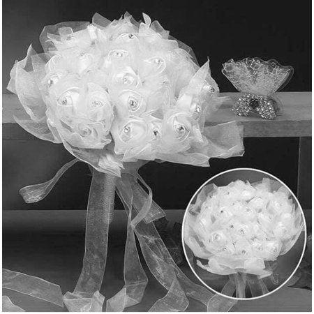 White Wedding Bridal Flower Bouquet Keepsake Gift Idea