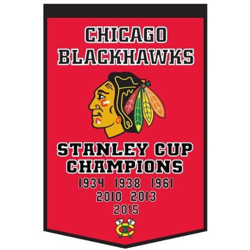 "Chicago Blackhawks Winning Streak Genuine Wool Dynasty Banner (24""x36"")"