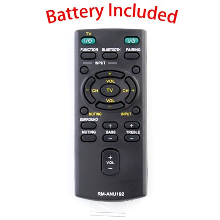 New RM-ANU192 Replace Remote for Sony HT-CT60BT SA-CT60BT SA-CT60 Sound Bar (Sony A7 Remote Flash)