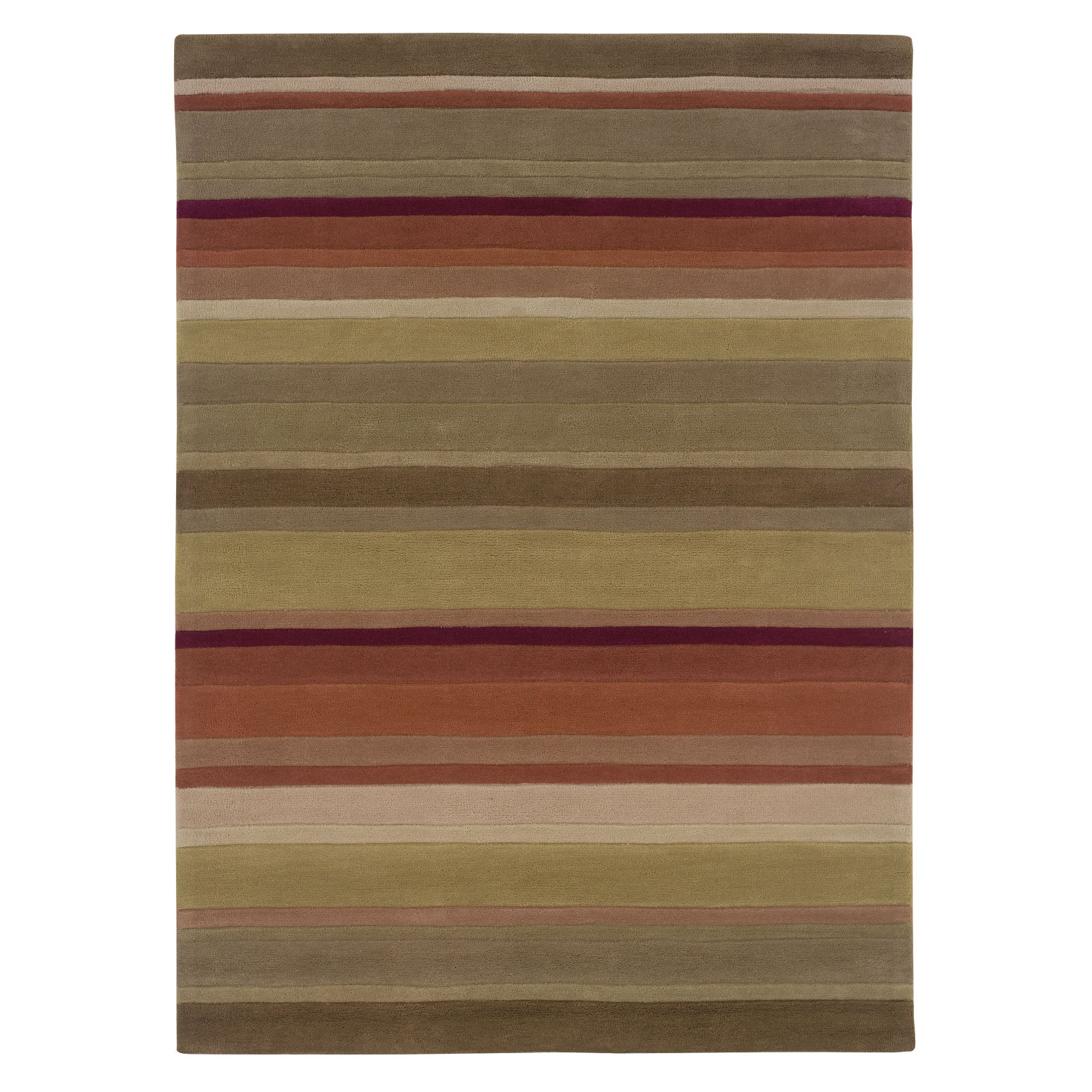 Linon Trio Area Rug - Green / Rust