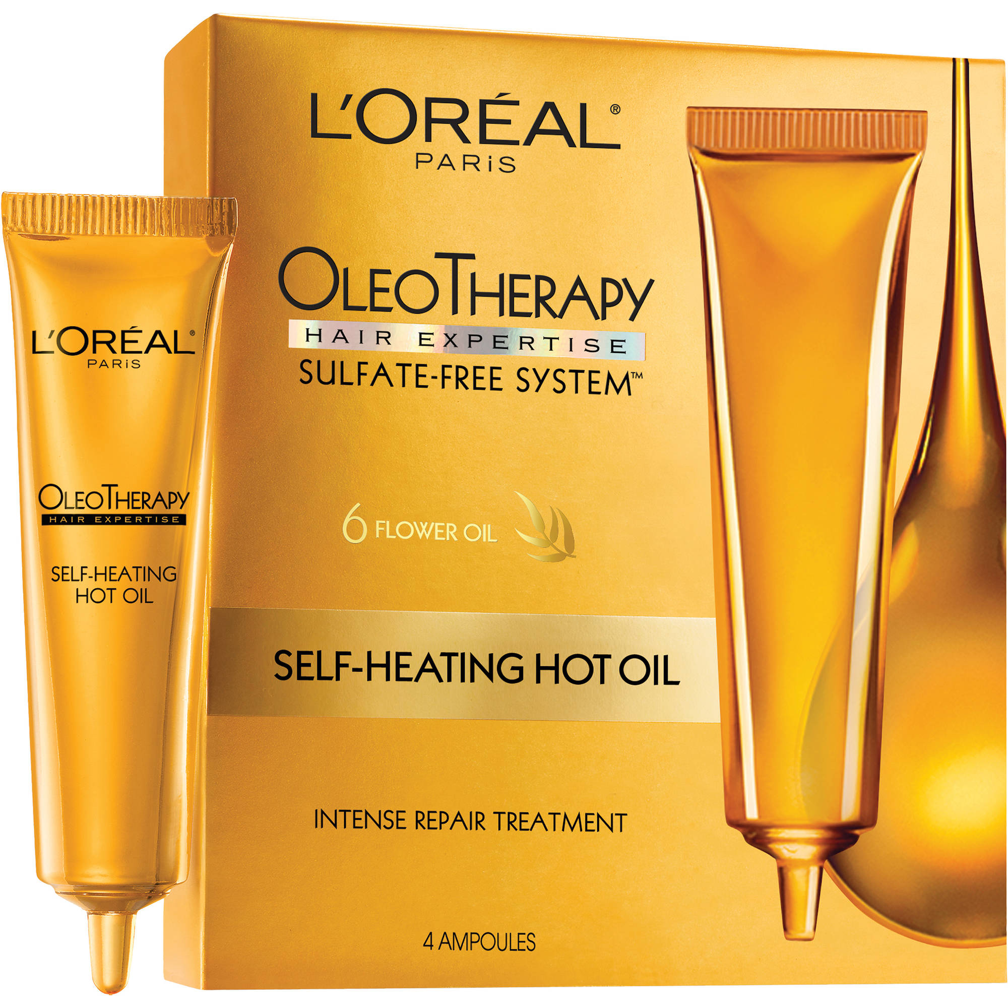 L'Oreal OleoTherapy Self-Heating Hot Oil Treatment Ampoules 1 ea