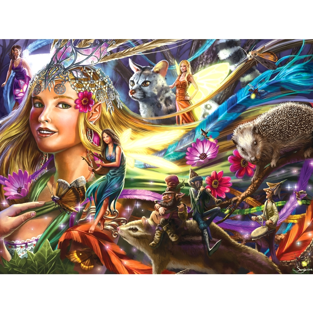 Queen of the Night Fairies Foil 750 Piece Puzzle,  Puzzles by LPF Limited