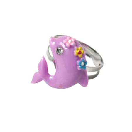 Kids Beach Themed Ring  Dolphin Ring (Purple) - Ring Dance Themes