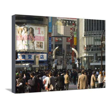 Crowds of People, TV Screen, Shibuya, Tokyo, Japan Stretched Canvas Print Wall Art By Christian Kober](Halloween Tokyo Shibuya)