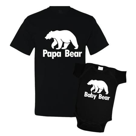 fd678316 Papa Bear and Baby Bear Matching Father Son Shirts - Walmart.com
