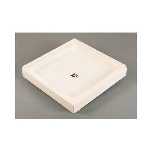 Bundle-48 Fiat Cascade 34'' x 34'' Double Shower Floor in White (Set of 6)