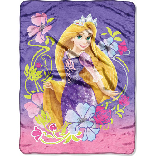 "Disney Rapunzel Tangled Flowers 46"" x 60"" Micro Raschel Throw"