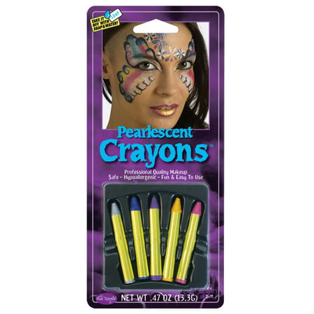 Halloween Pearlescent Makeup Crayons by Fun World - Making Halloween Makeup Stay