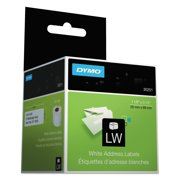 (2 Pack) DYMO LW Mailing Address Labels for LabelWriter Label Printers, White, 1-1/8'' x 3-1/2'', 2 rolls of 130