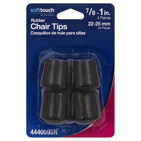 Waxman Soft Touch 7 8 To 1 Inch Rubber Black Chair Tips 4