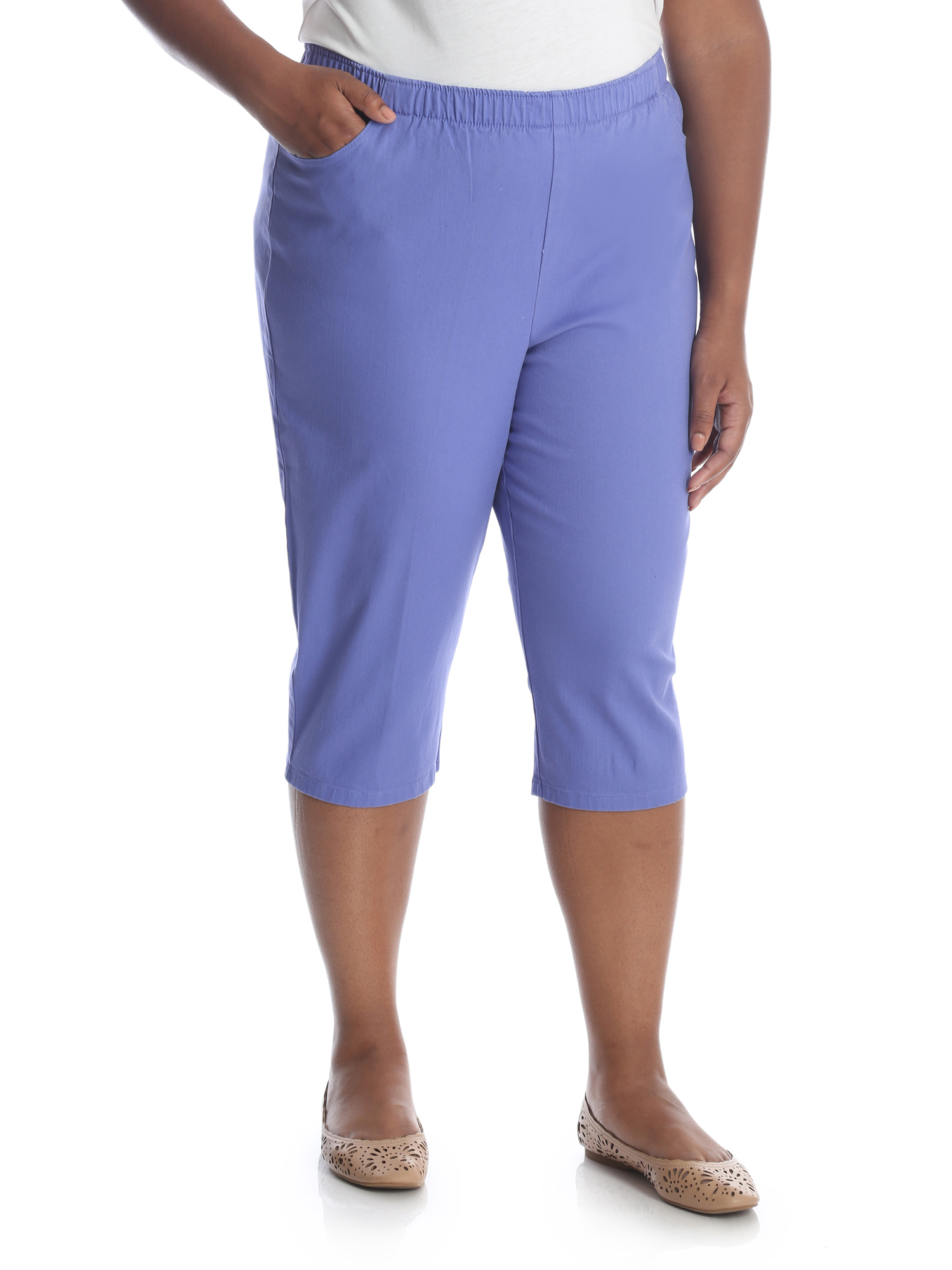 Women's Plus Stretch Pull On Capri