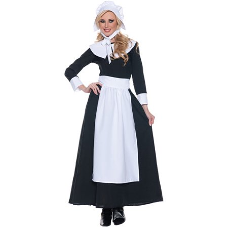 Pilgrim Woman Adult Halloween Costume - Halloween Costumes Adults Women