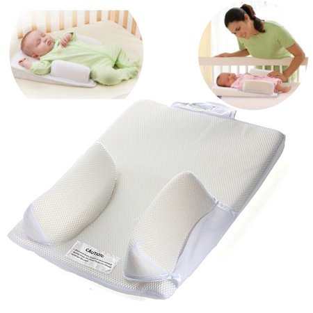 "Newborn Infant Baby Anti Roll Pillow Sleep Positioner Prevent  Cushion Baby Pillows for  Newborns Sleeping Flat Head the Crib ,12.2""x15.75"""